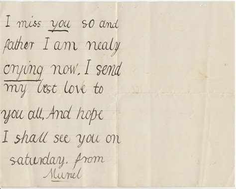 I Miss You Letter For