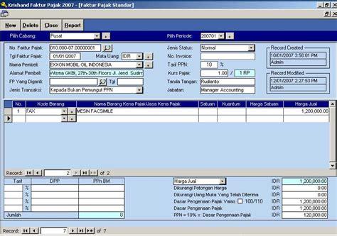 kapan pembuatan faktur pajak standar dan gabungan software faktur pajak standar software pajak indonesia