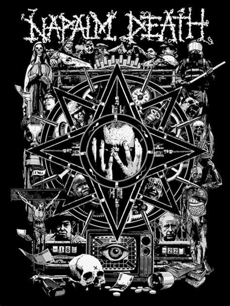 design pour le groupe napalm death fabrice lavollay