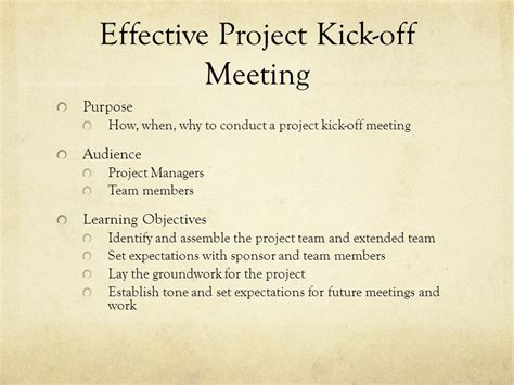 project kickoff meeting presentation template effective project kick meeting ppt