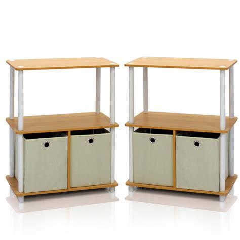 to go 3 shelf bookcase manhattan comfort greenwich white matte and maple 3