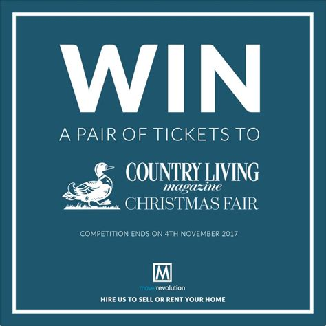 win a pair of country living christmas fair tickets 2017 move revolution