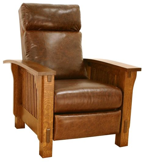 mission style reclining chair high back morris chair mission style furniture