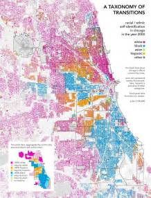 Chicago Segregation Map by A Menagerie Of Curious Things Maps As Provocateurs Of