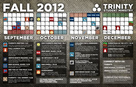 youth ministry calendar template our fall student ministry calendar youth and