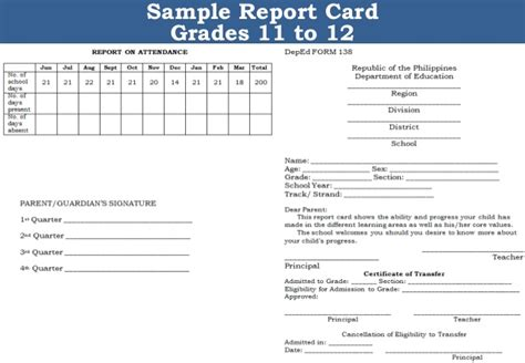 k12 report card template new k12 assessment in the k to 12 basic education program