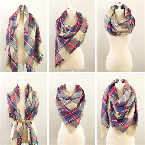 6 ways to wear a blanket scarf how to tie a blanket scarf
