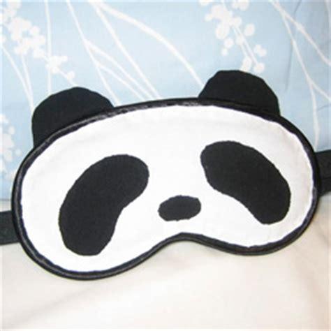 Panda Sleeping Mask handmade gift ideas panda sleep mask craftster
