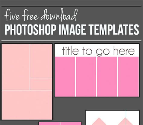 how to create a photoshop image template and free