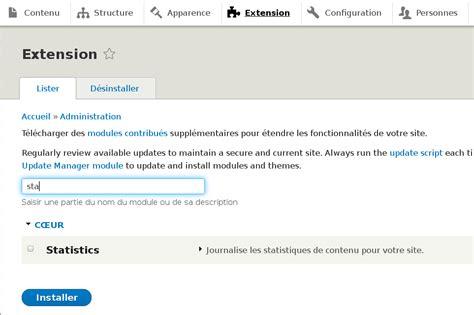 fm creer son site avec drupal installer des modules