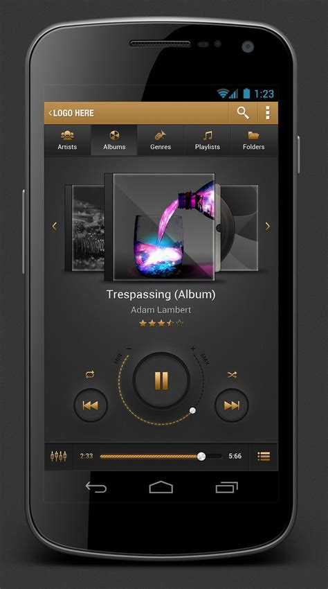 audio player android 1000 images about player ui on flats adobe and user interface