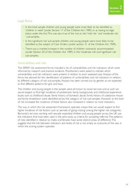 section 44 children act 1989 sexual exploitation risk assessment framework a pilot study