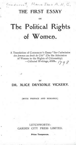 Womens Suffrage Essay by On The Admission Of To The Rights Of Citizenship Library Of Liberty
