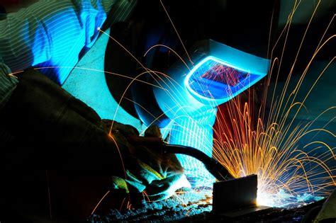 worker welder welding electrical arc helmet hd wallpaper