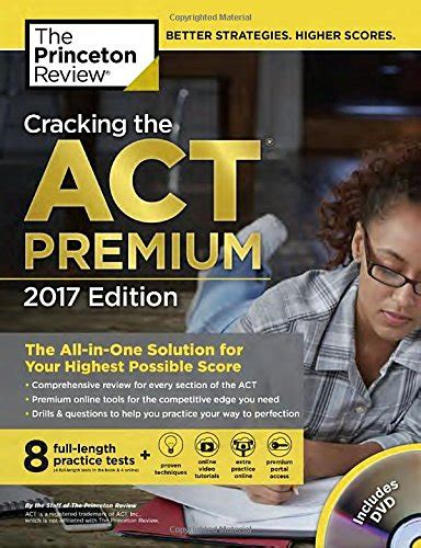 cracking the act with 6 practice tests 2017 edition the techniques practice and review you need to score higher college test preparation act textbooks slugbooks