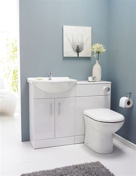 Bathroom Furniture Units 2 Door 650mm Bathroom Vanity Unit With Back To Wall Wc Unit