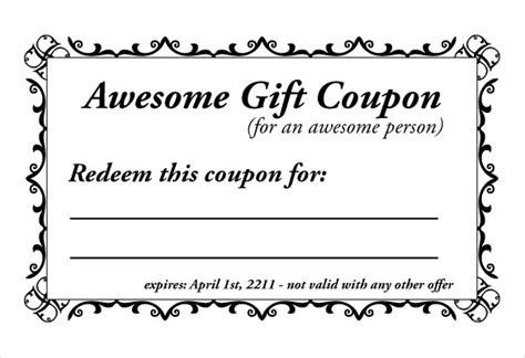 coupon templates printable free coupon template 10 free pdf format