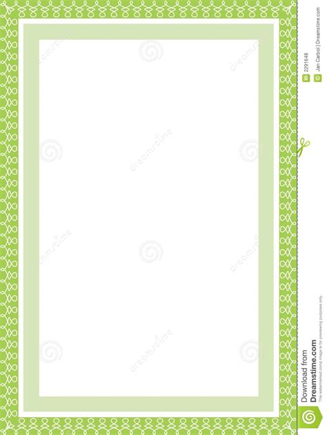 eps format borders secure green border in a4 stock vector image of bank