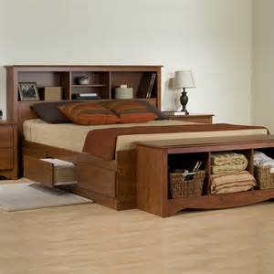 Size Platform Bed With Storage No Headboard Cherry Size Platform Storage Bed With Six Drawers