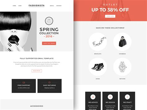 Newsletter Boutique Template Sketch Freebie Download Free Resource For Sketch Sketch App Sources Sketch Email Template