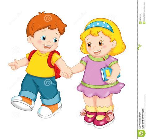 imagenes niños que van ala escuela ni 241 os agradables imagen de archivo imagen 14782931