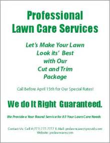 lawn care flyers templates free free lawn care service flyers