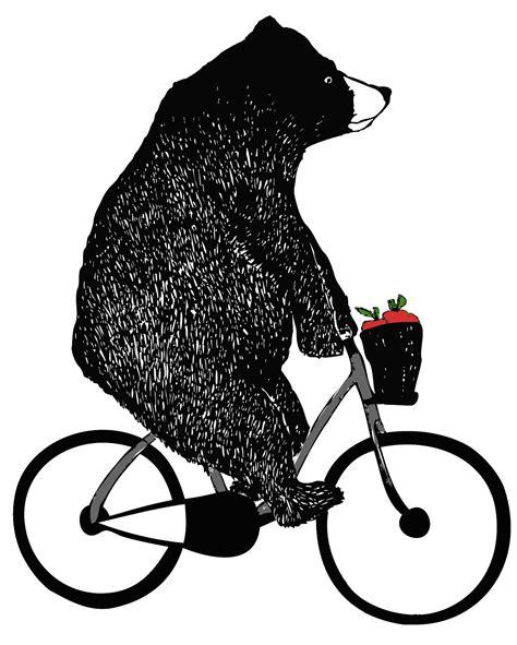 bear on a bike caarat bear on a bike