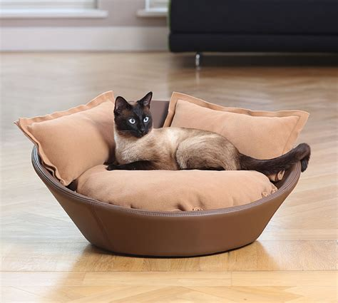 kitten beds luxury faux leather mila cat bed chelsea cats