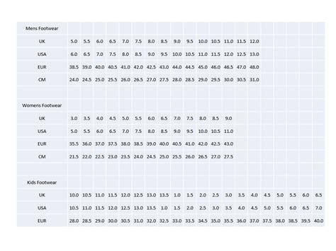 running shoe chart saucony size chart matttroy