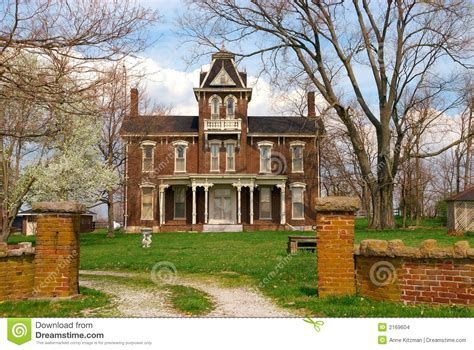 colonial brick homes historic 1800s brick home stock images image 2169604