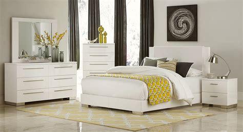 homelegance bedroom set homelegance linnea bedroom set high gloss white 1811