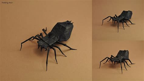 Origami Tarantula - 30 frighteningly fantastic origami models