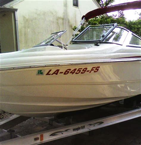 boat registration numbers louisiana gallery of cypress graphics signs banners lettering