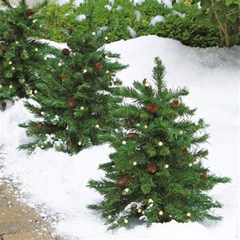 outdoor prelit trees cordless led pre lit walkway tree tree shop