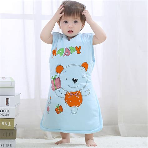 100 cotton clothes anti flu sleeveless baby sleeping