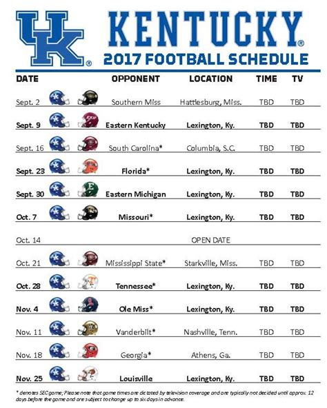 uk basketball schedule spread 2017 kentucky football schedule announced all kentucky