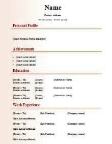 Resume Template Publisher Publishing Cv Template