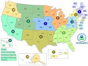 us map split into 4 regions maps epa web design us epa