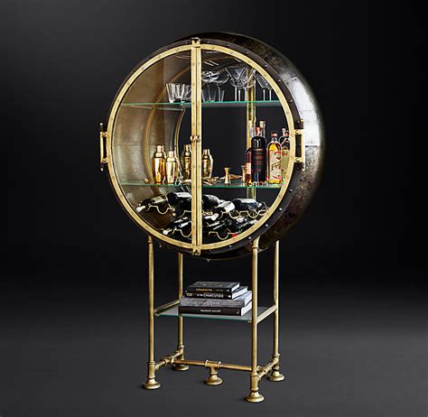 restoration hardware liquor cabinet spectacular porthole bar in glamorized steunk style