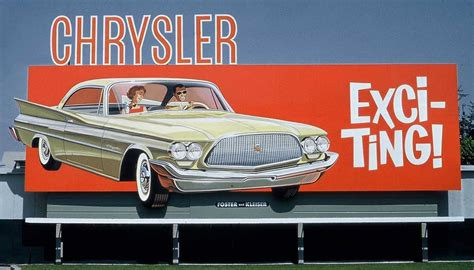 chrysler advertising automobile billboards selling motorists the vision of a