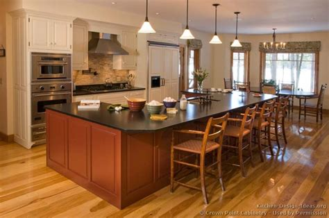 kitchen island with cabinets and seating pictures of kitchens traditional kitchen cabinets