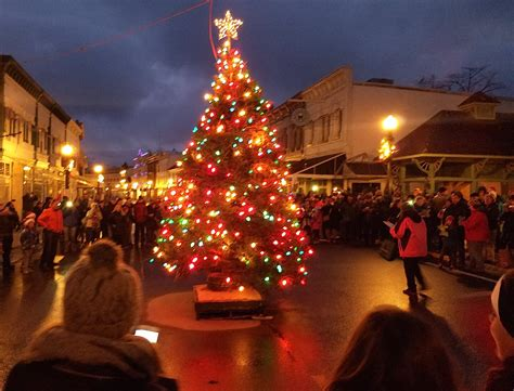 mackinac island s main street glows with holiday cheer