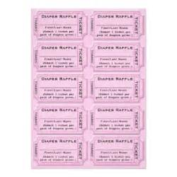 baby raffle ticket template raffle tickets gifts on zazzle