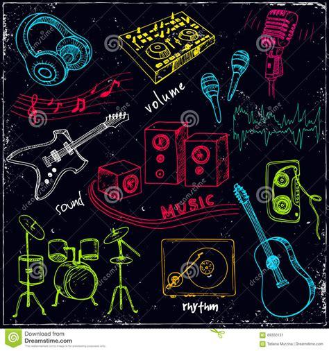 imagenes abstractas de rock fondo astratto di musica con gli strumenti musicali