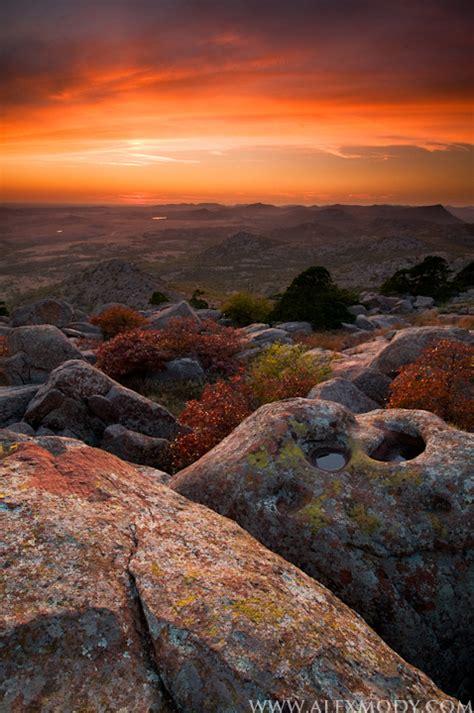 mt scott sunset wichita mountains national wildlife