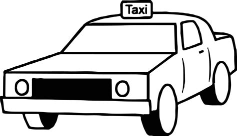 taxi car coloring page taxi box car coloring page wecoloringpage