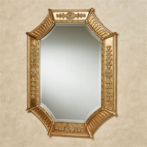wall to wall mirror sofia antique gold octagonal wall mirror