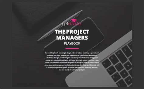 The Project Manager S Playbook Getsmarter Blog Project Playbook Template