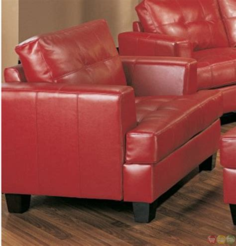 sofa and love seat samuel red bonded leather sofa and love seat living room set