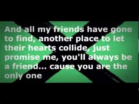 ed sheeran one lyrics terjemahan ed sheeran one lyrics youtube